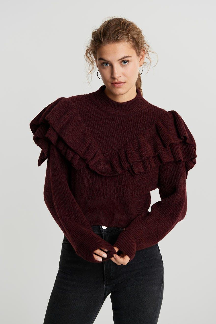 Esther knitted sweater, Strikket genser Trendige strikkede