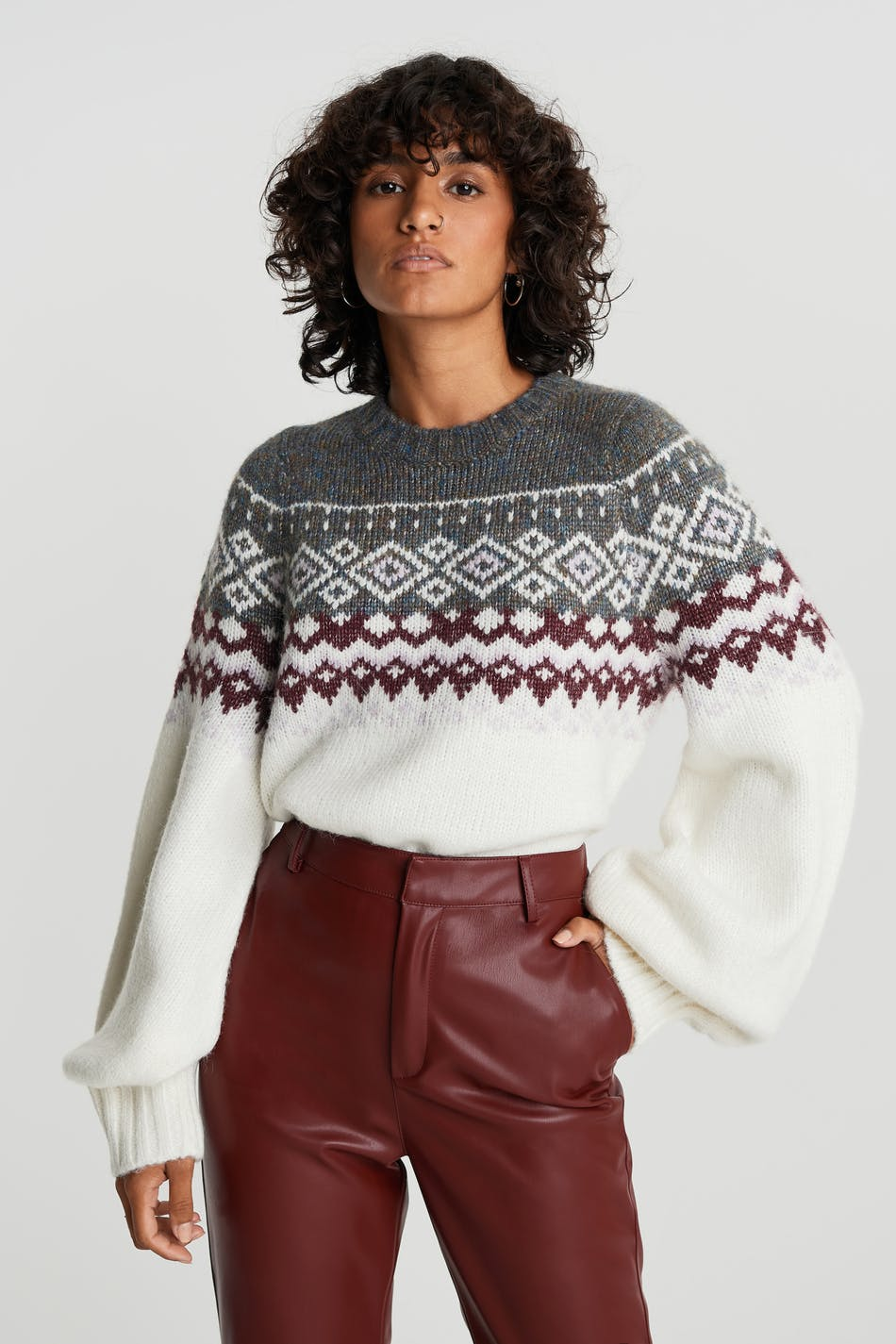 Belle knitted sweater