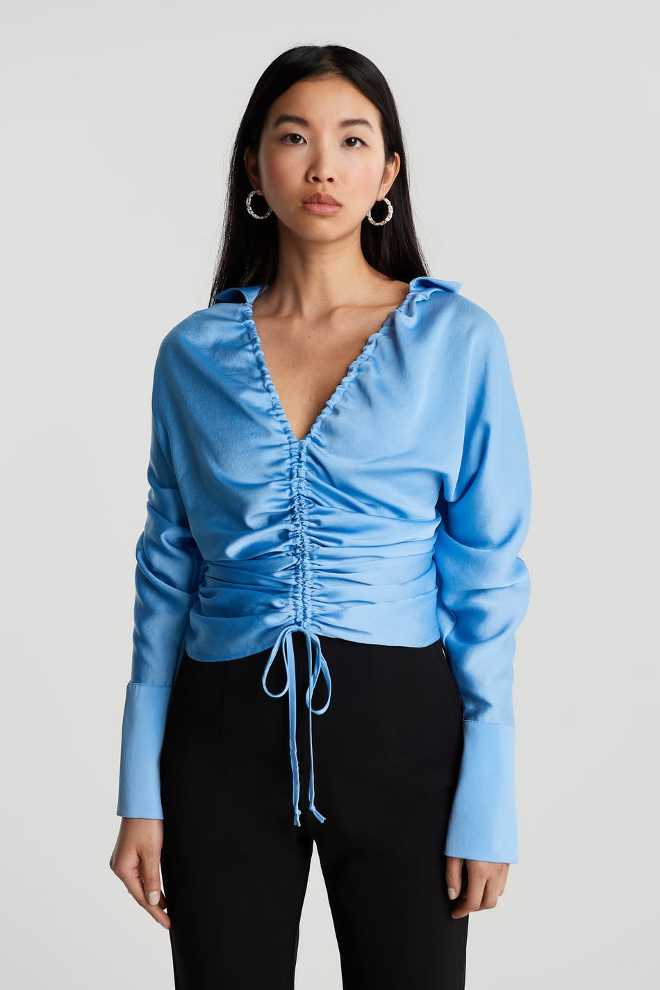 Drawstring shirt