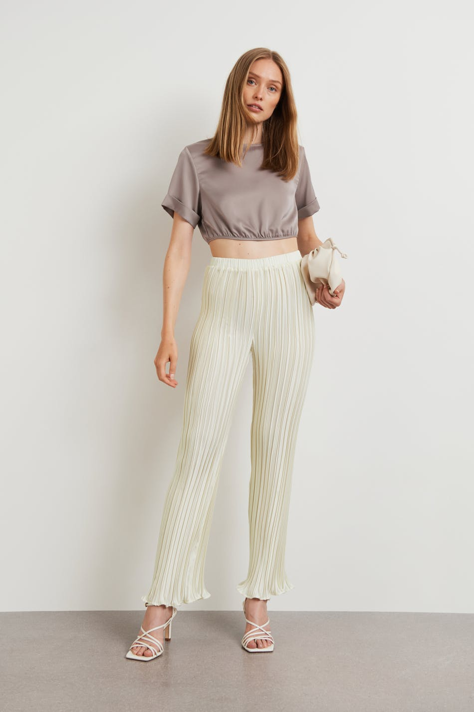 Gina Tricot Anina pleated trousers