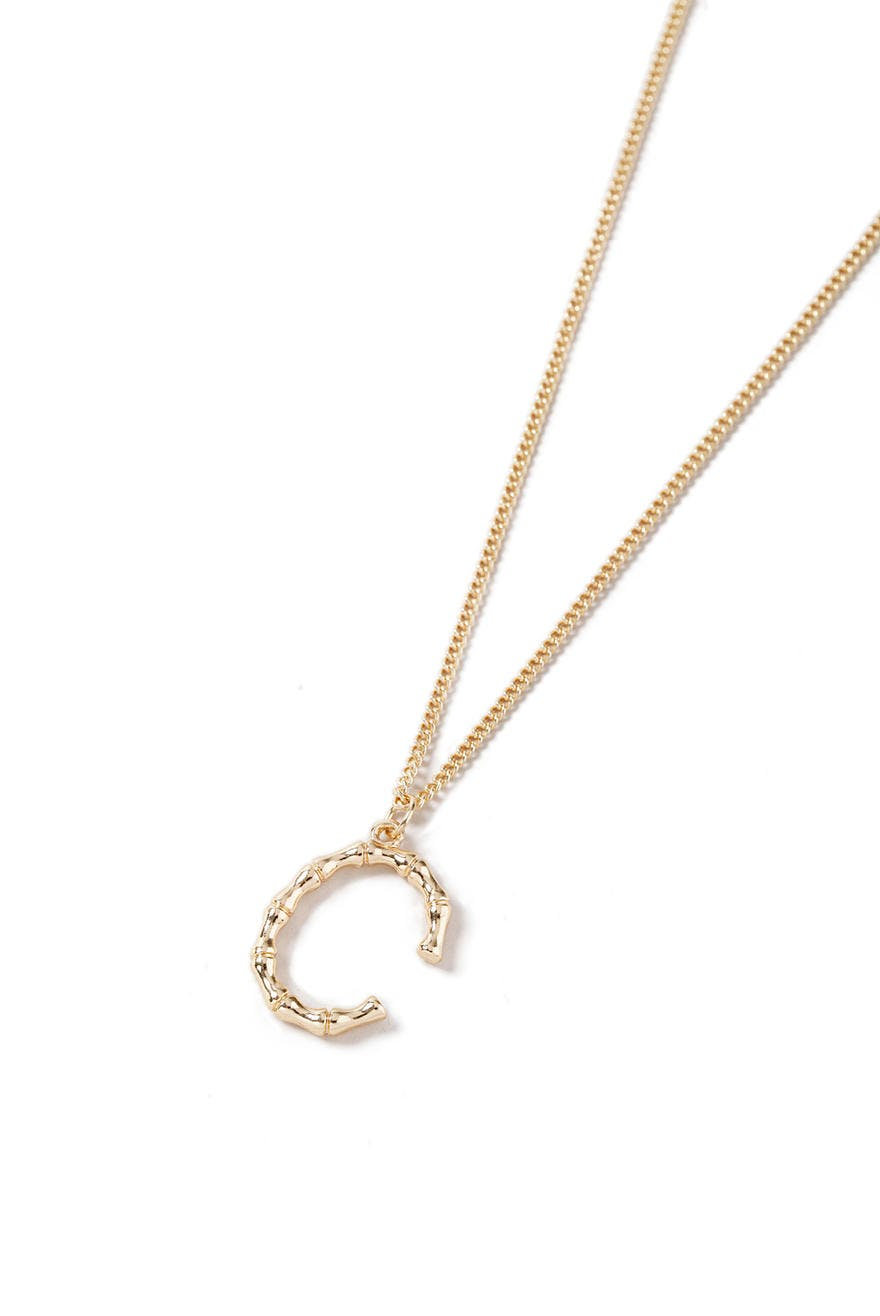 Gold Look Bamboo C Initial Necklace 2 99 Eur Necklace Gina Tricot