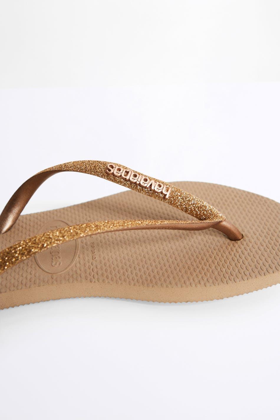Havaianas glitter flip flops