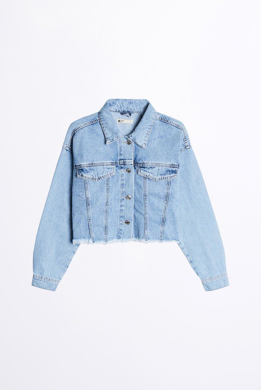100% original 2019 wholesale price low price sale Raw cropped denim jacket 44.99 EUR, Coats & jackets - Gina Tricot