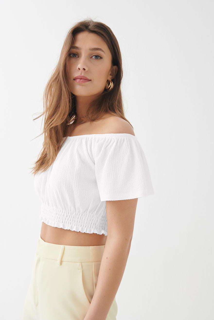 Millie off shoulder top 19.99 EUR, Off Shoulder Shirt Kaufe schulterfreie Tops online Gina Tricot