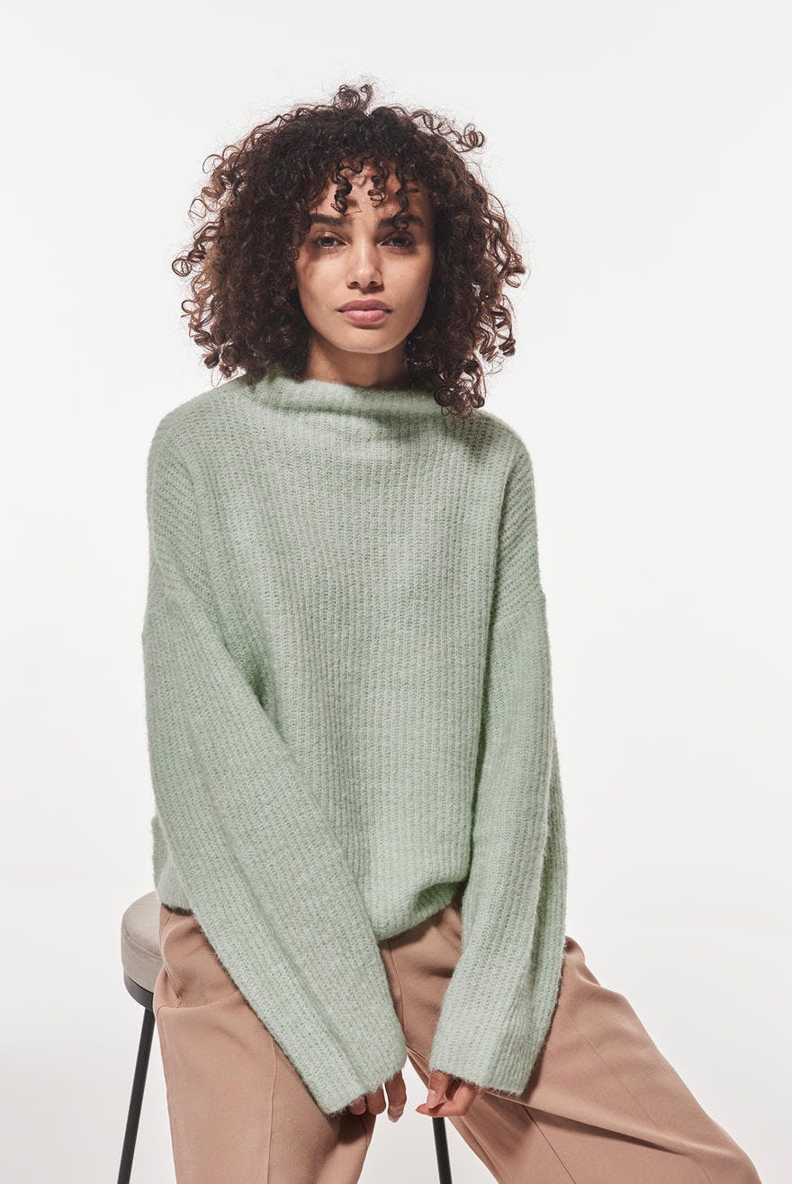 Ebba knitted sweater, Strikket genser Trendige strikkede
