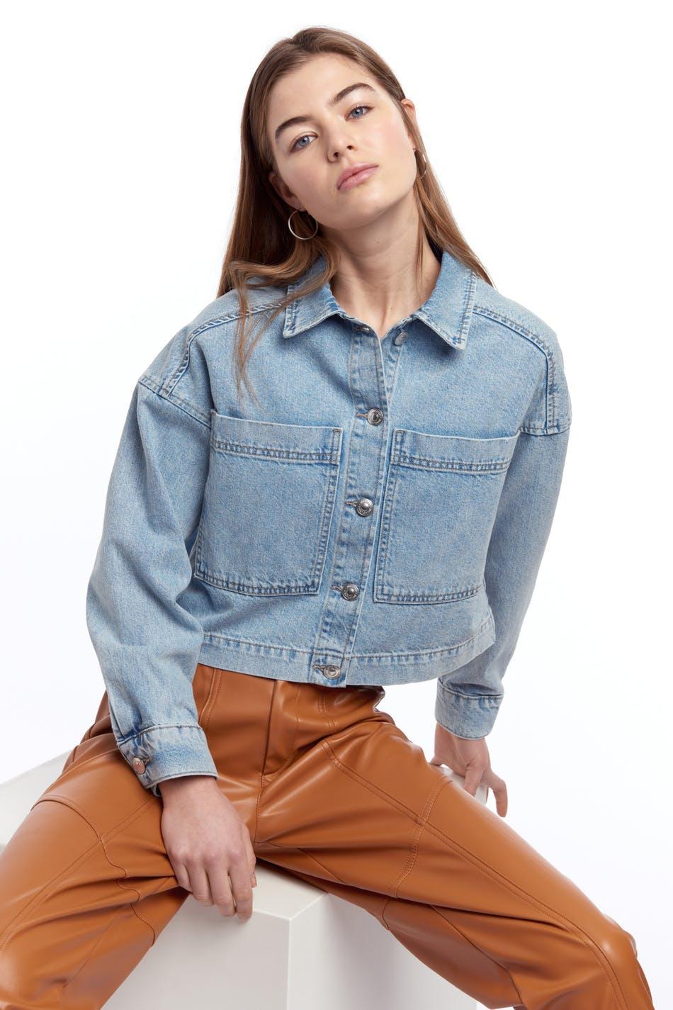 Worker denim jacket, Jeansjakker Handle jeansjakker med