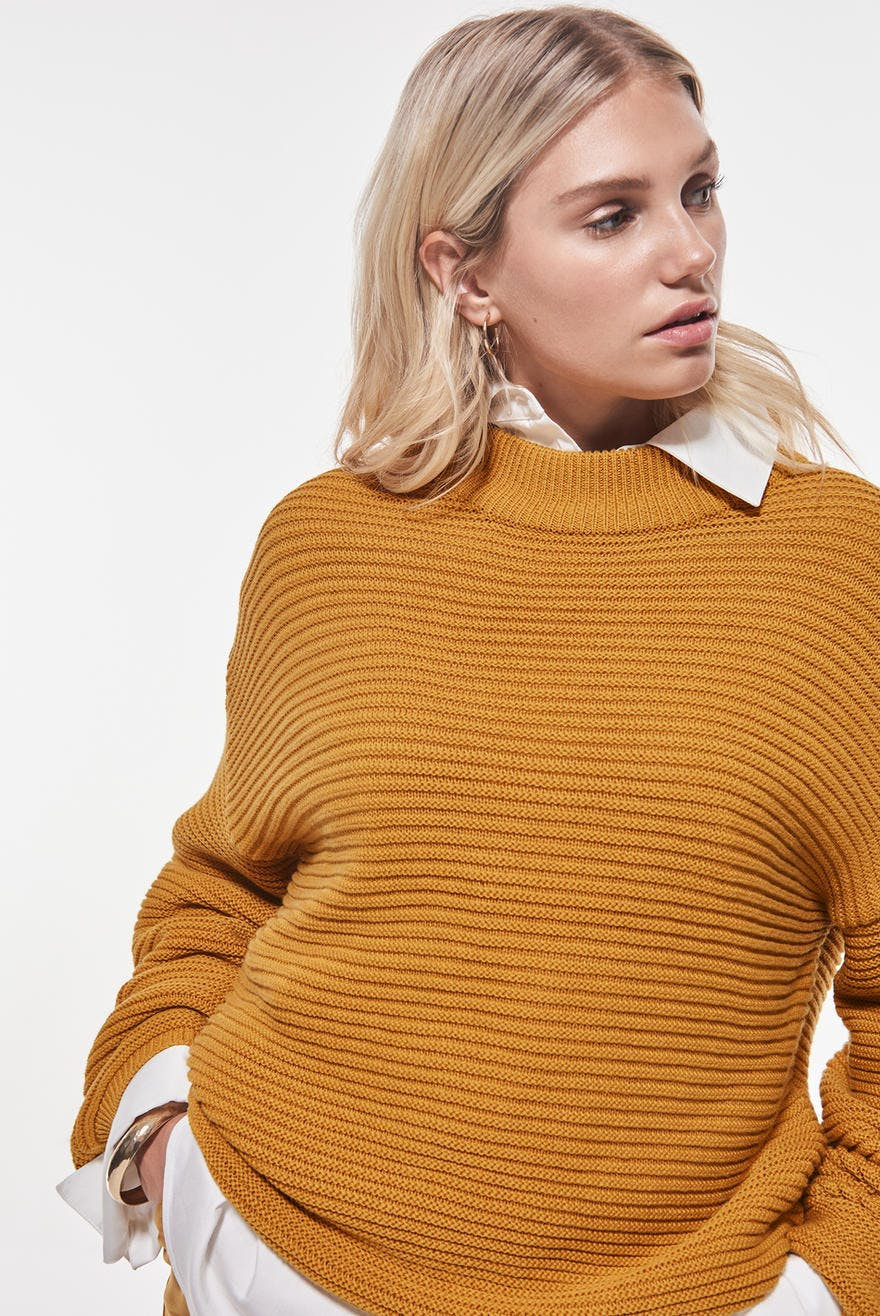 Celia knitted sweater, Strikket genser Trendige strikkede