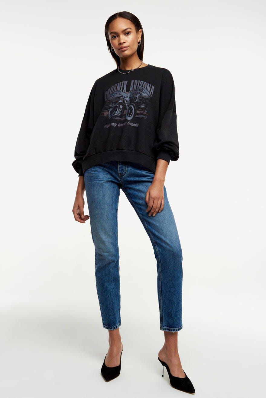 Burgundy bluse fra Gina tricot str XS