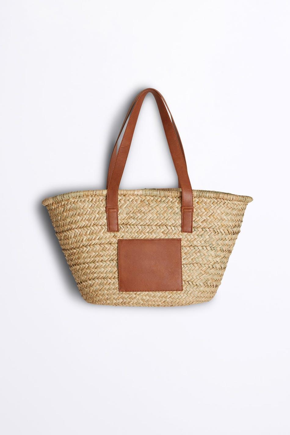 gina tricot jonna straw bag