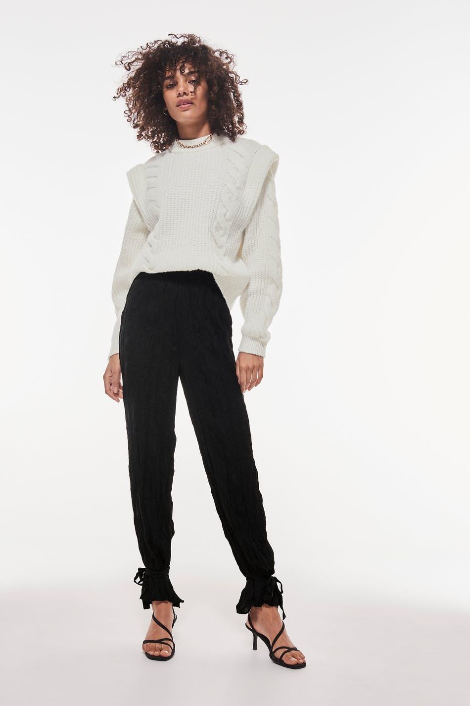 Belle crinkle trousers