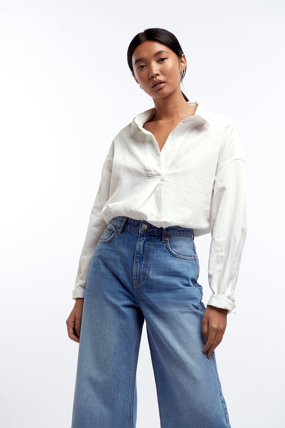 gina tricot fløyel skjorte