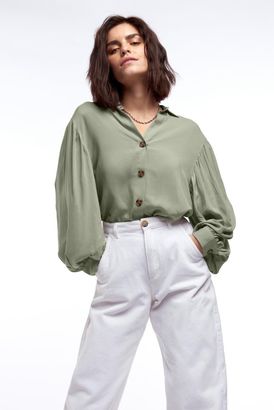 Gina Tricot MIRABELLE  - Skjorte - seagrass