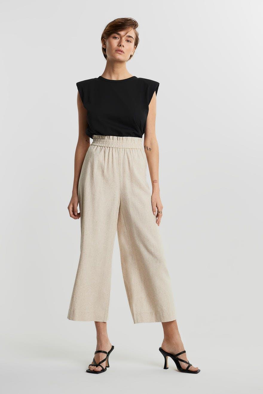 Disa linen culotte trousers, Housut Vaatteet ja muoti