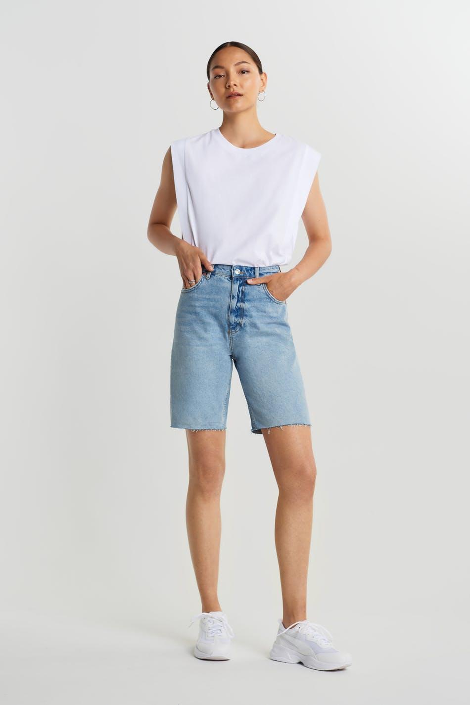 City denim shorts