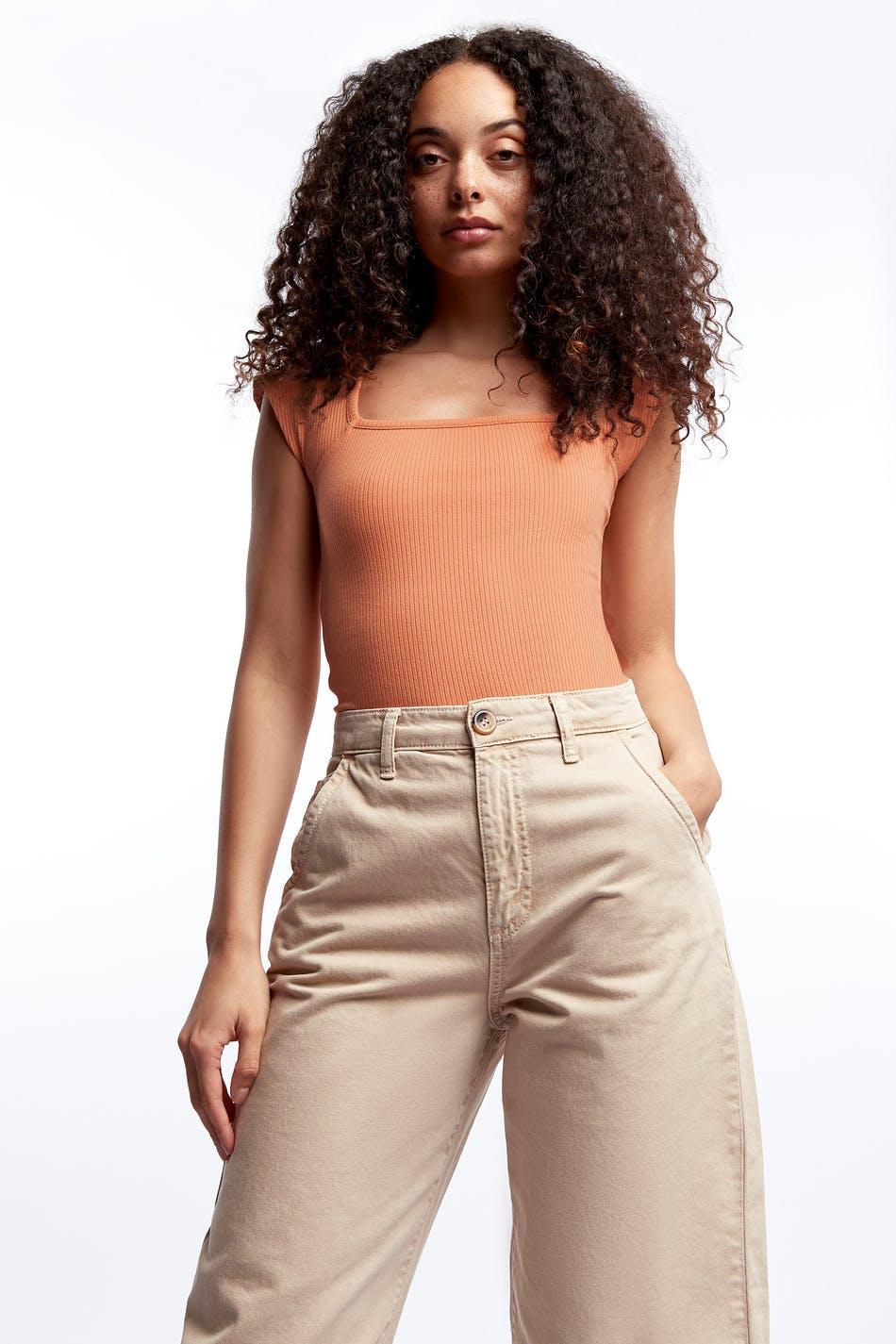 Carmen rib top 119.00 DKK, Toppe Beklædning og mode online