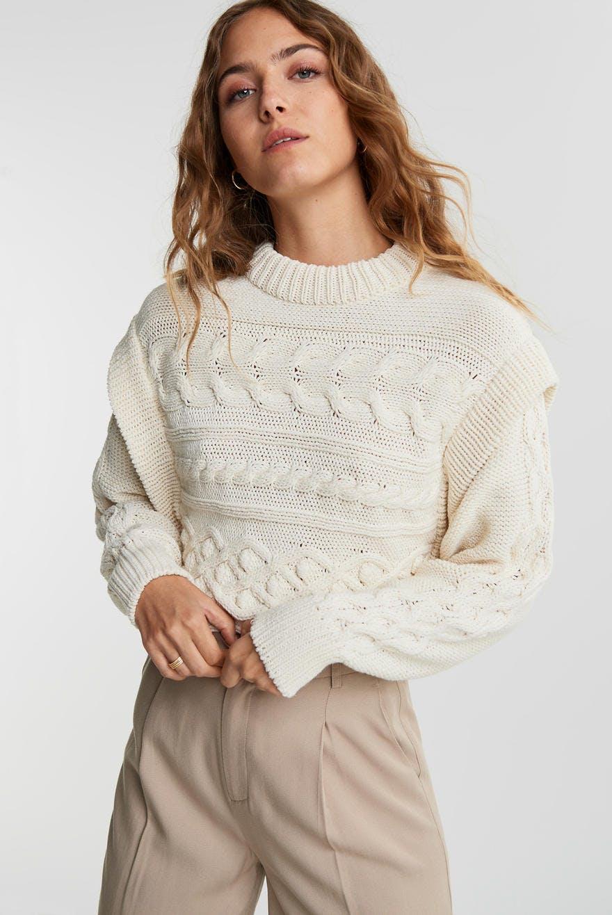 Margot knitted sweater, Strikket genser Trendige strikkede